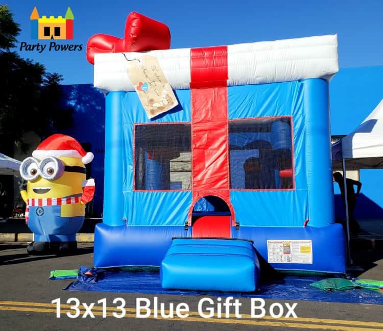 13X13 Blue Gift Box Jumper