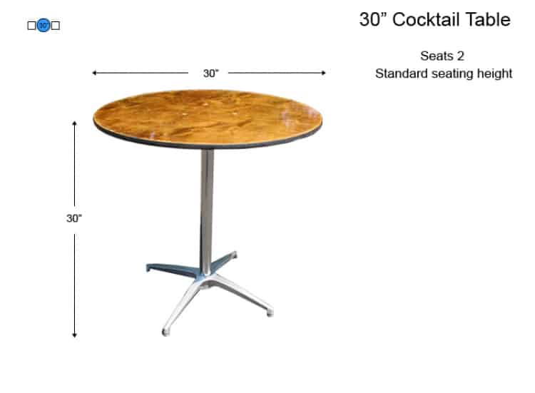 30 Round Cocktail Table (Seat Height-30)