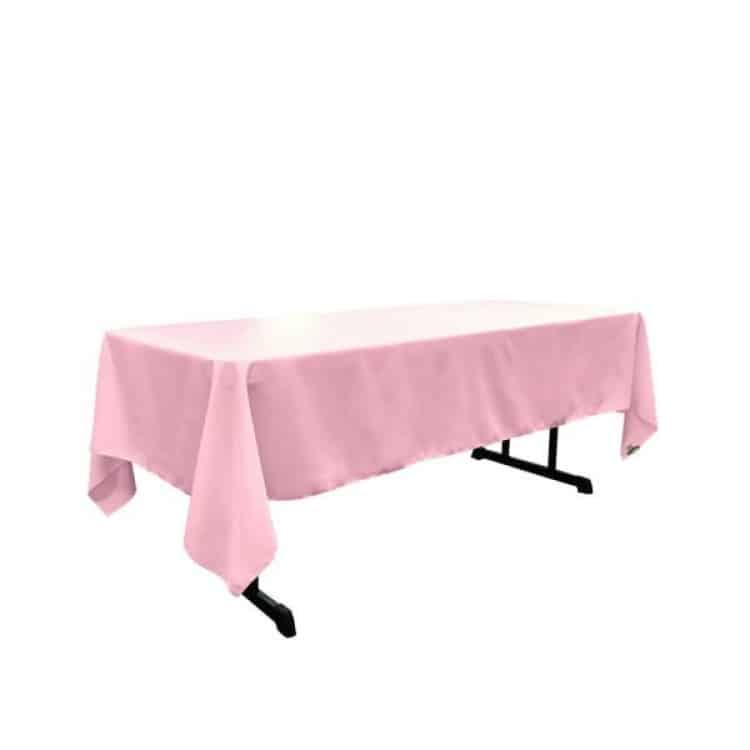6' Light Pink Tablecloth (Polyester)