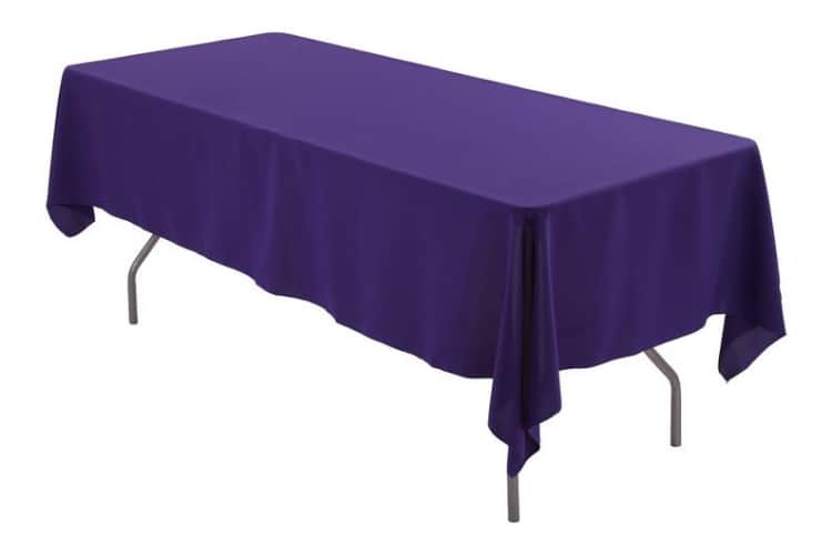 6' Purple Rectangle Tablecloth (Polyester)