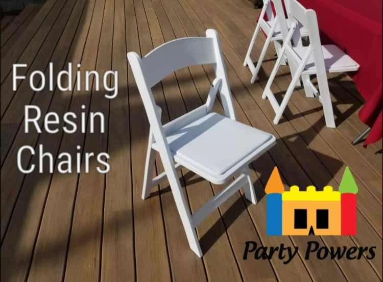 White Padded Folding Chair