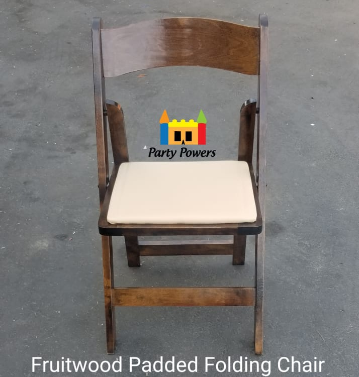 Brown Padded Folding Chair