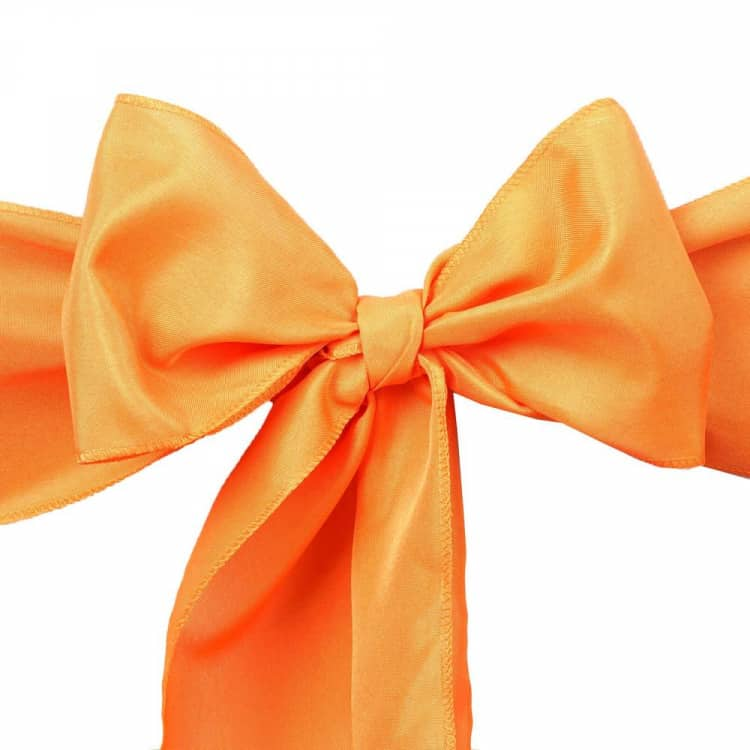 Orange Chair Bow (Polyester)