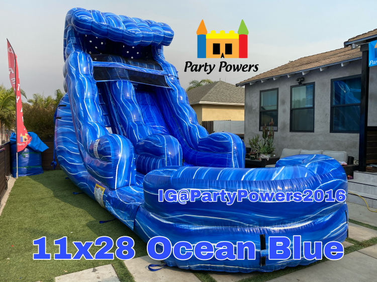 11x28 Ocean Blue Water Slide