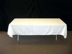6' White Rectangle Tablecloth (Polyester)