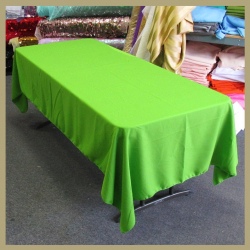 6' Lime Tablecloth Polyester
