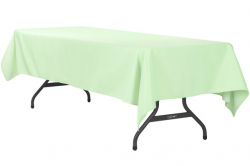 6' Mint Rectangle Tablecloth (Polyester)