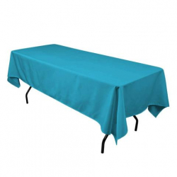 6' Turquoise Tablecloth Polyester