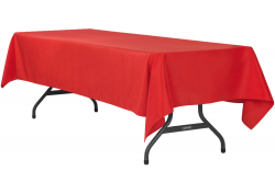 6' Red Rectangle Tablecloth (Polyester)