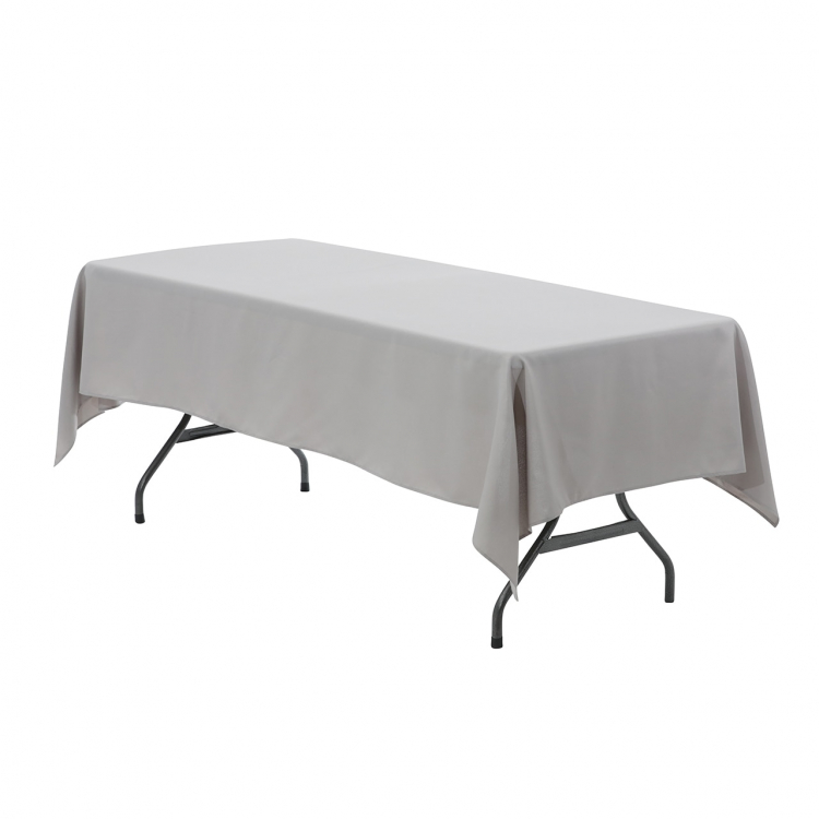 6' Gray Rectangle Tablecloth (Polyester)