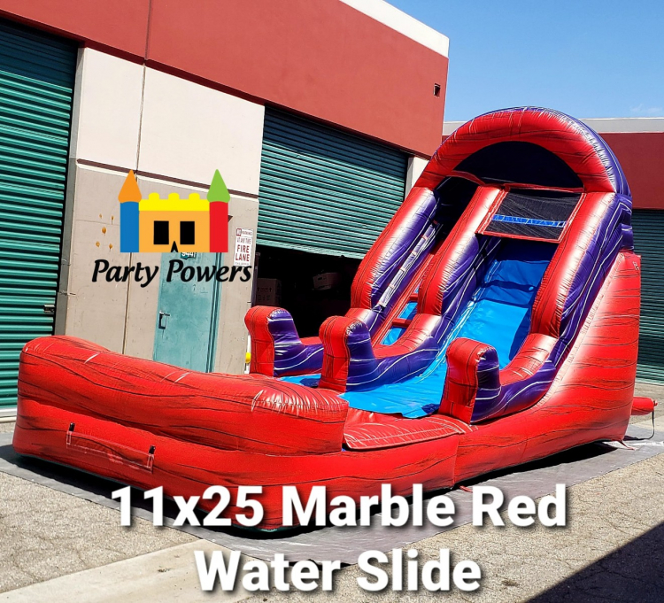 11x25 Marble Red Water Slide 11x25 Water Slide