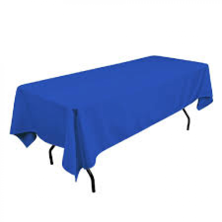6' Royal Blue Rectangle Tablecloth (Polyester)