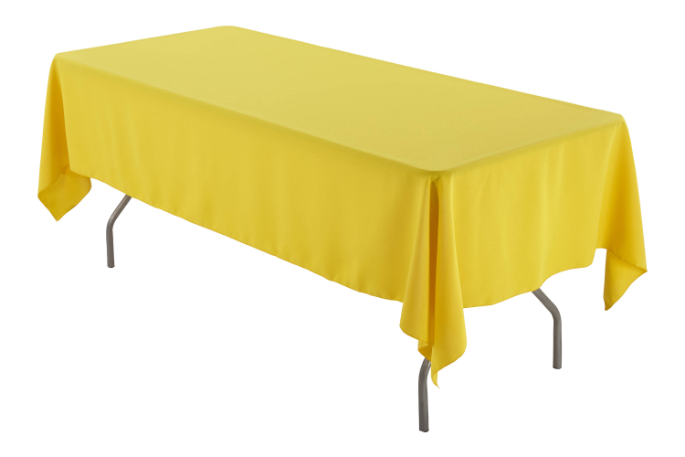 6' Yellow Rectangle Tablecloth (Polyester)
